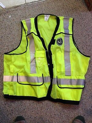 NEW Mens Size big and tall Reflective Vest Safety  Yellow
