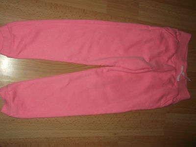 Girls jogging bottoms pink 8-9  worn once