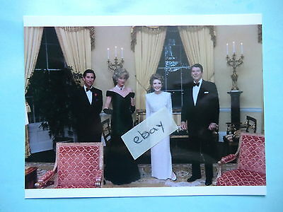 Princess Diana, prince Charles & Ronald & Nancy Reagan Postcard