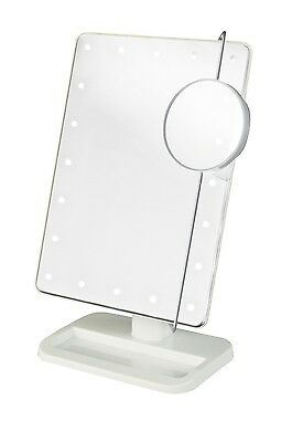 Jerdon 8 LED Lighted Makeup Cosmetic Vanity Mirror 1X/10X Magnification NEW