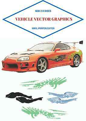 6Gb Of High Quality Vehicle Vector Images Vinyl Cutter Plotter Fast & Furious