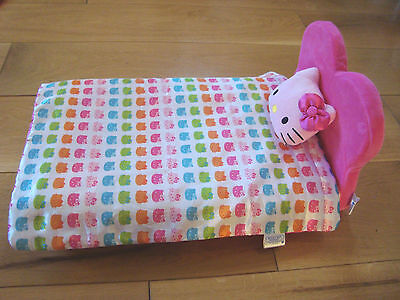 Excellent Condition Build A Bear Heart Chair Bed & Hello Kitty Bedding