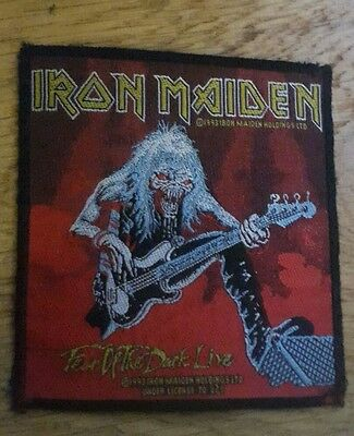 Iron Maiden Fear Of The Dark Live sew-on cloth patch
