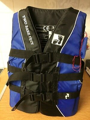 Two Bare Feet Buoyancy Aid Impact Vest Jacket Boating Water Sports Small 65-77cm