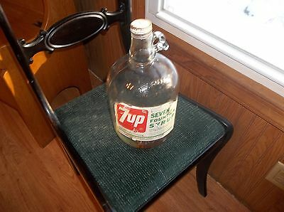 Vintage 7-Up 1 Gallon Syrup Bottle