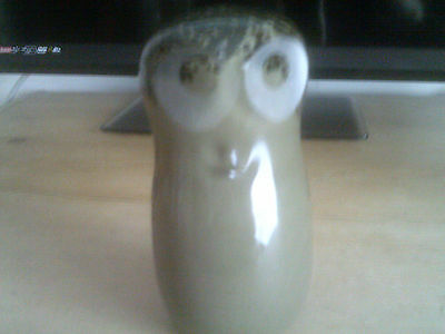 Vintage Wedgwood Glass Owl Paperweight