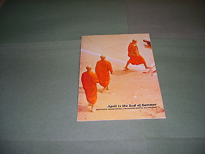 Australian Broadcasting Commission Thailand 1968 Intertel Documentary Brochure