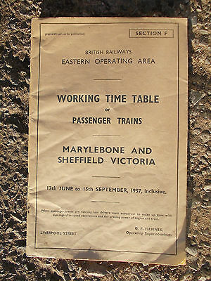 BR ER WTT, Sect F, Marylebone and Sheffield Victoria, 17 Jun - 15 Sep 57