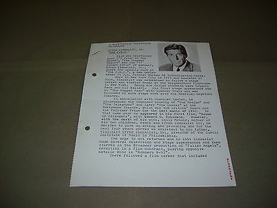 Rare Rediffusion TV Efrem Zimbalist Jr The F.B.I. 1966 UK Press Release