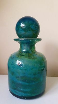 Vintage Mdina Art Glass Scent Bottle / Decanter Sands And Sea