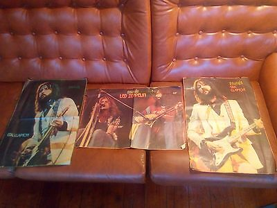 Sounds A2 Magazine Posters Job Lot, Led Zeppelin, Eric Clapton Posters