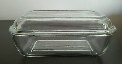 Vintage Retro French Arcoroc Glass Butter Dish