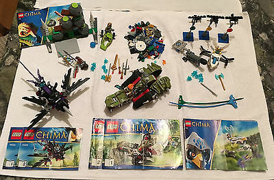 4 Complete Legends of Chima Lego Sets + 100s of extra pieces - Excellent