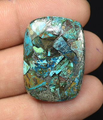 28.95  Cts. Natural Lovely  Silver  Azurite  Cushion Cab Loose  Gemstones