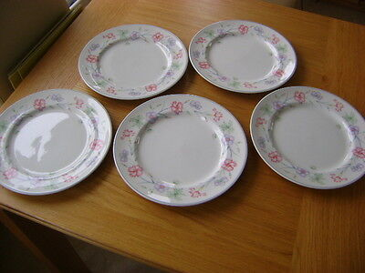 Boots Carnation 5 Dinner Plates    10 Inches Across