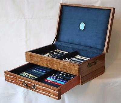 Fountain Pen Chest, #550, Vintage, Hand-Crafted, Holds 42 Pens, Solid Wood, Usa