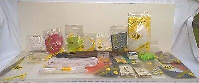 Job lot of Fly Tying Materials - Feathers Fur Hair Hooks - veniard
