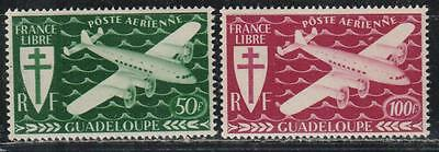 1945 French colony stamps, Guadeloupe, full set MH, SC C1-2