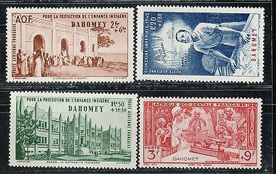 1942 French colony stamps, Dahomey, full set MH, SC CB1-4