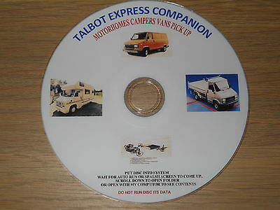 Talbot Express Companion Service Repair Restoring  Guides Workshop Manual