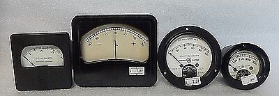 4 ORIGINAL vintage A.C. D.C. GAUGES kilovolts milliamperes GENERAL ELECTRIC navy