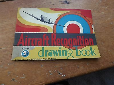 Rare Ww2 Aircraft Recognition Drawing Book 1944