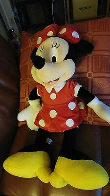 "Vintage Disneyland Large Minnie Mouse 25"" Plush Soft Toy"