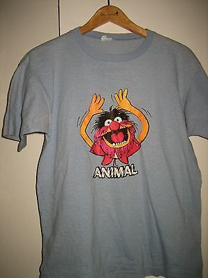 Vintage Animal Champion Blue Bar T Shirt Sz. L Muppets Iron on Transfer