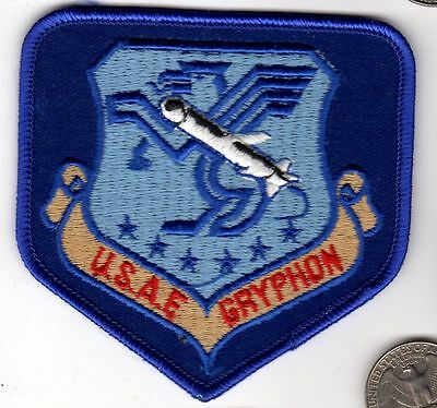 US Air Force Fighter Jet GRYPHON Missile Squadron Patch wing aircraft pilot