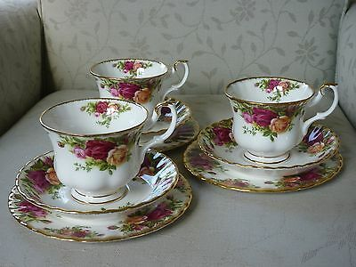 Royal Albert Old Country Roses Trio - Side Plate, Cup & Saucer x3