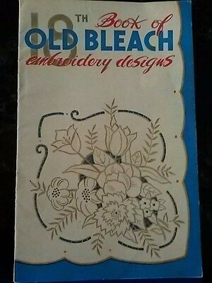 """18th """"OLD BLEACH"""" Book of Embroidery Designs - 1940s Printed in Northern Ireland"""