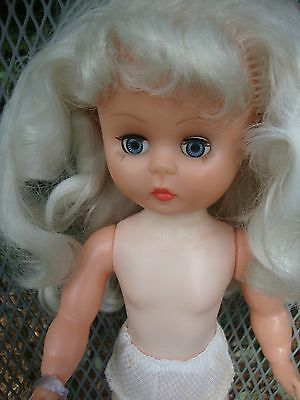 VINTAGE PLATINUM BLONDE DOLL 1950s NEVER PLAYED WITH