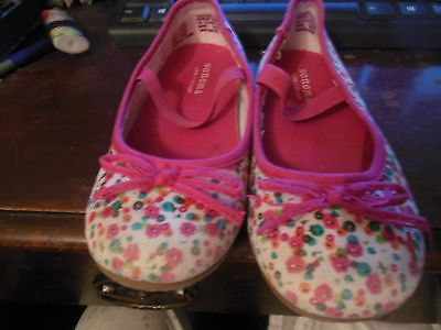 Toddler Girls Casual Canvas Shoes, GUC, Sz 10, Floral, Sonoma, Mary Jane