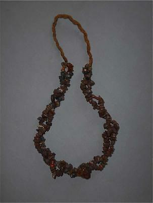 Antique Himalaya TOP AGED MULTISTRINGED AMORPHIC CARNELIAN AND OTHER STONE BEADS