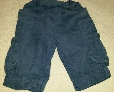 ☆Baby Boys 3-6mths Blue cord trousers. M&S☆