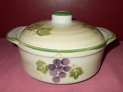Mulberry Home Collection CASSEROLE DISH Heavy Ceramic Stoneware 2007 7 inch