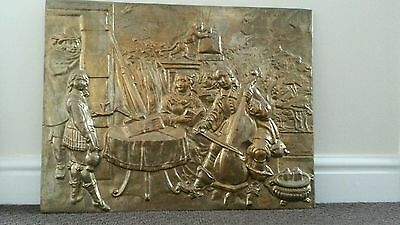 Large brass wall plaque
