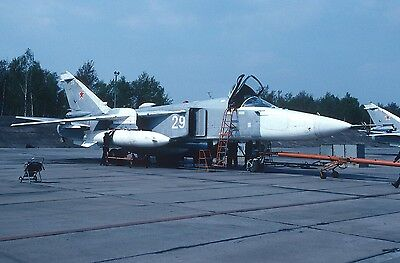 Original Kodak aircraft slide,Su24 29 white at Welzow/DDR