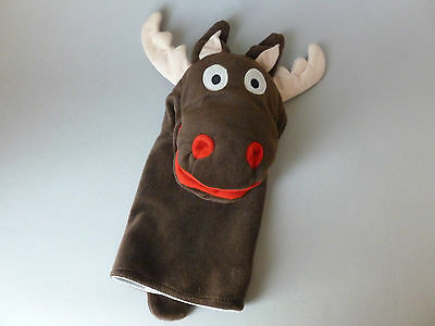 Cute Cheeky Ikea **REINDEER HAND PUPPET** Santa's Little Helper Toy