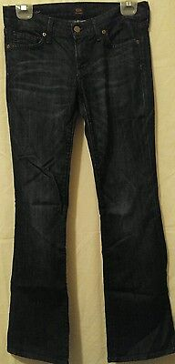 Citizens of Humanity Dita Women's Size 27 Petite Bootcut Dark Wash Blue Jeans
