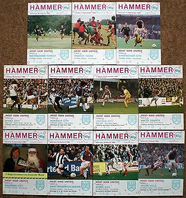 WEST HAM UNITED FC 1982 1983 HOME Football Programme Collection WHU Collectables