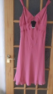 Ted Baker  Dress 100 % Silk   Size 12  New With Tags