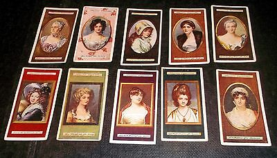 10 Players Cigarette Cards Miniatures