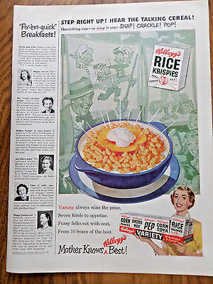 1950 Kellogg's Rice Krispies Ad at the Carnival  Snap Crackle Pop Guys