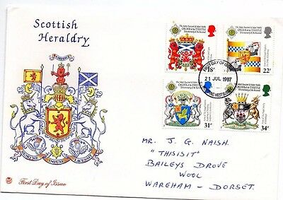 1987 Scottish Heraldry - Stuart Worthing Cds Fdc From Collection 1/10