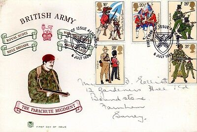 1983 British Army - Stuart Aldershot Special H/s Fdc From Collection 1/18