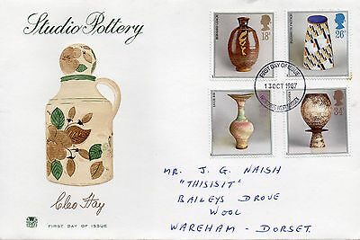 1987 Studio Pottery - Stuart Worthing Cds Fdc From Collection 1/05