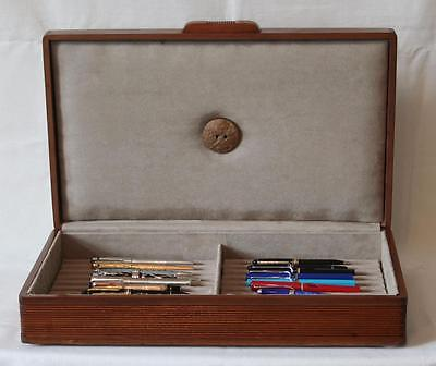 Fountain Pen Chest, #546, Vintage, Hand-Crafted, Holds 22 Pens, Solid Wood, Usa