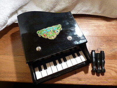 **vintage Toy Wooden Grand Piano** Black 1960's