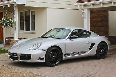Porsche Cayman 3.4S Black Edition Style Manual 987 Silver/Black Leather PASM,NAV